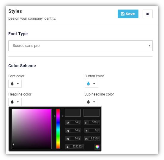 styles menu