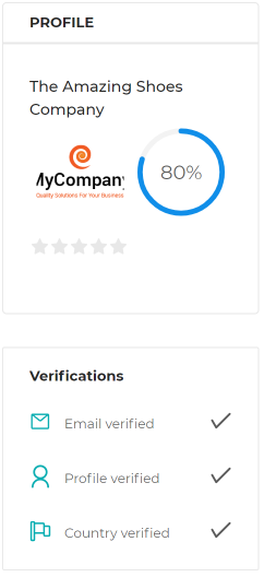Supplier profile completion score