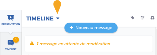 Notification de message en attente de modération