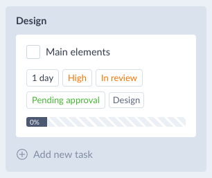 Tasks custom fields