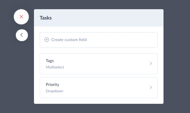 Create custom fields for tasks
