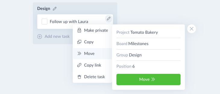 Move task boards and tasks