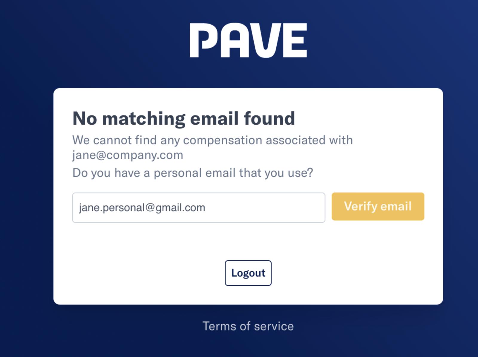 Alternate Email Verification
