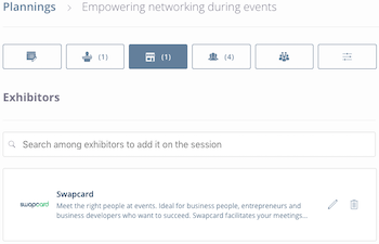 Event data > Program > Session > Exhibitor