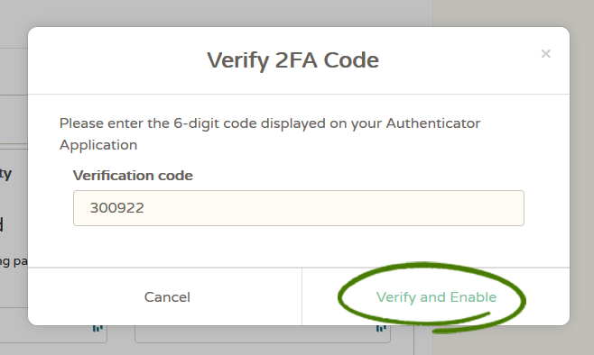 Verify and Enable