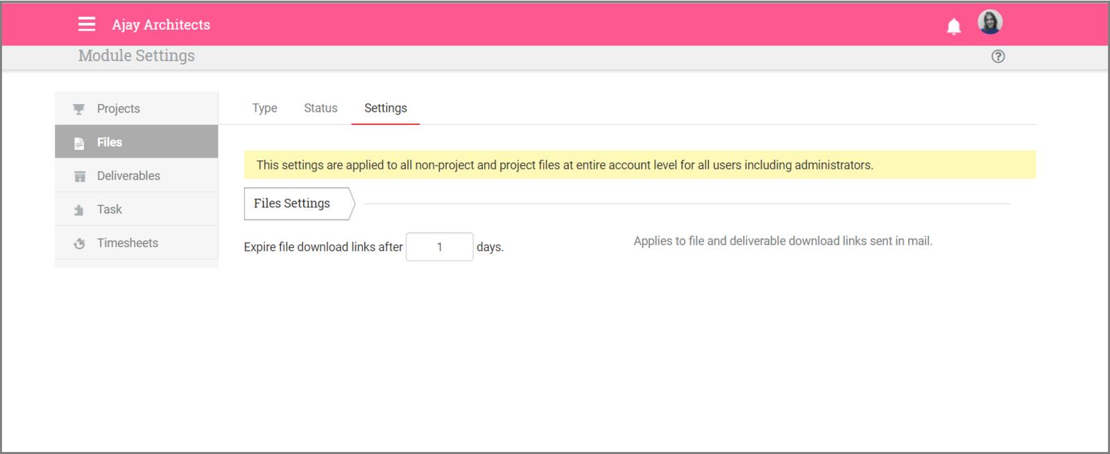 File Settings