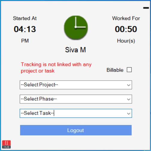 Time Tracker Screen