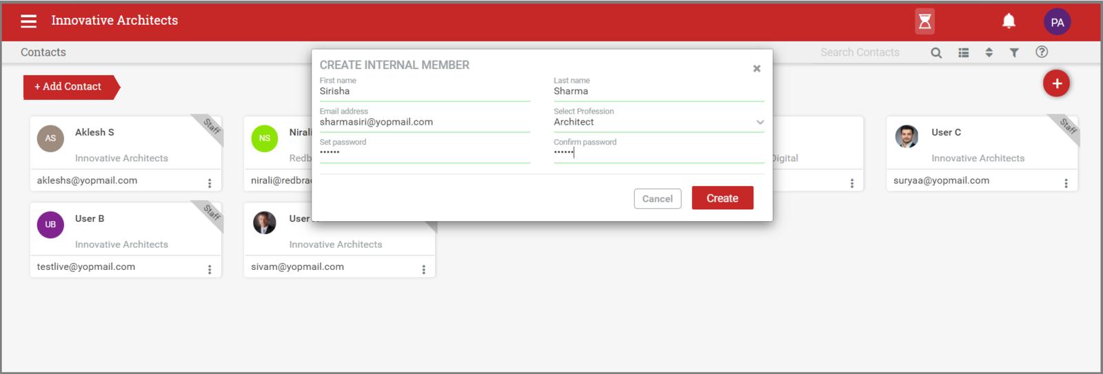 Add user details