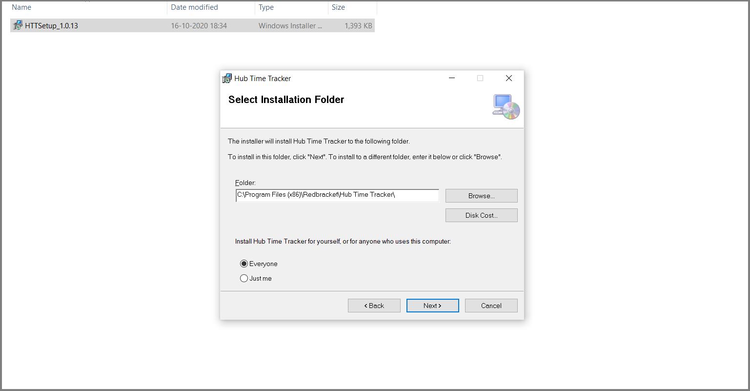 Select Folder Location