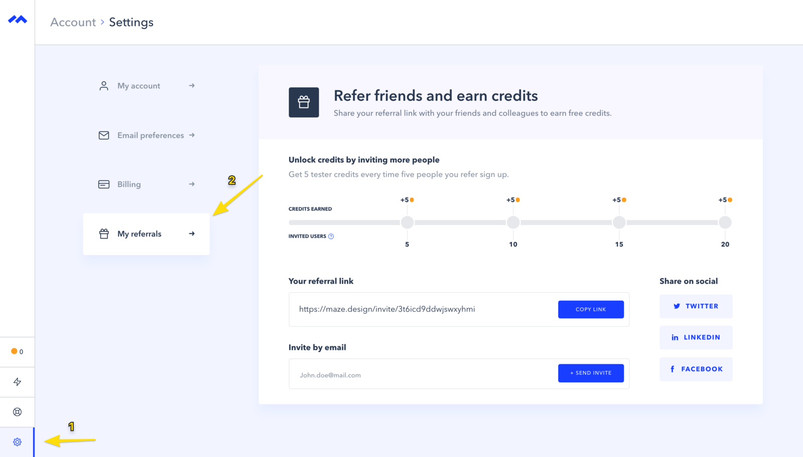 Your referral link lives here