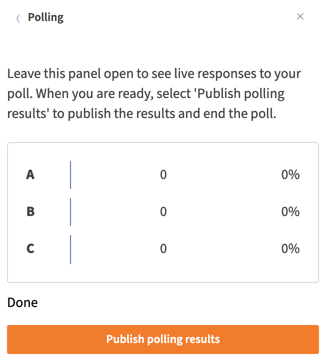 Publish polling results
