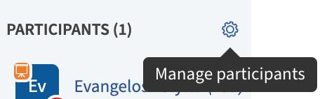 Manage Participants button