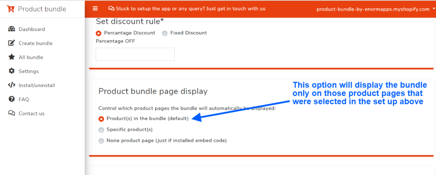 Option 1 - Display on product pages