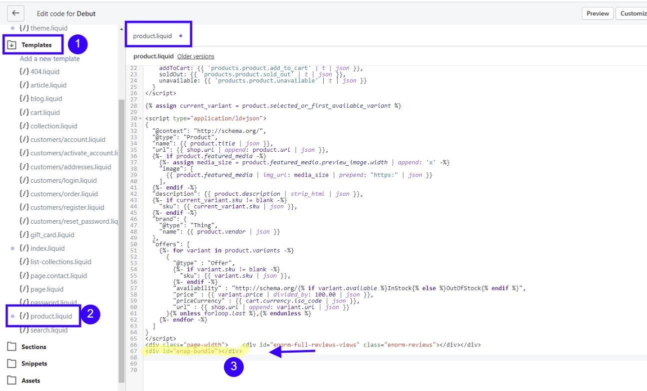 Code location - product.liquid