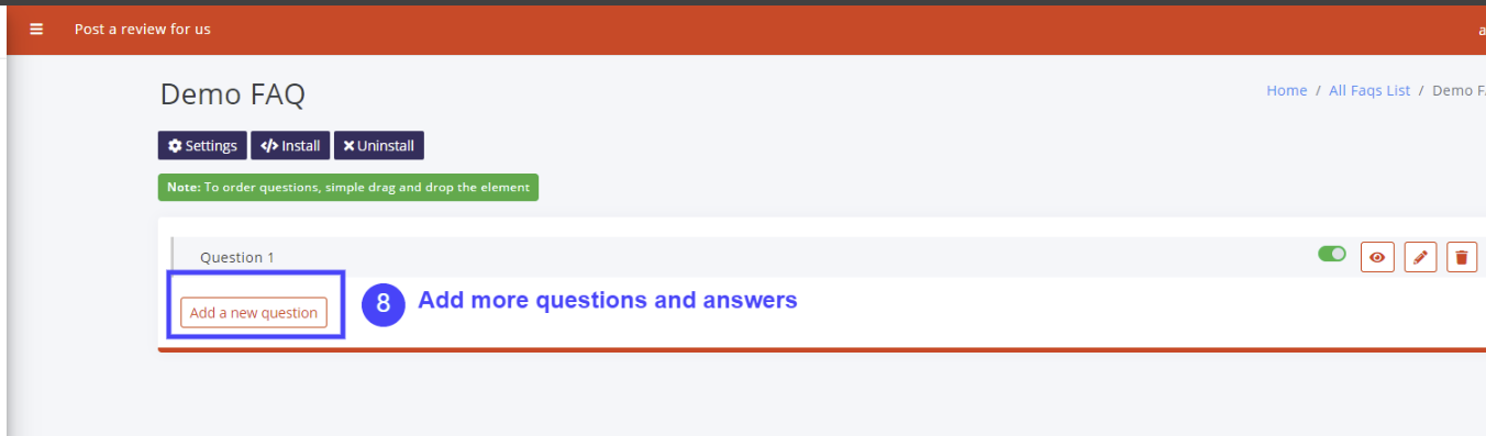 Add rest of the questions and answers