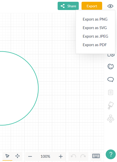 Export documents as SVG, PNG, JPEG and PDF files