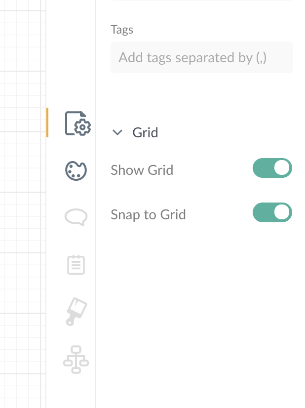Toggle grid controls