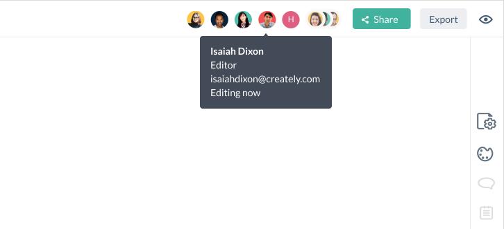 Ver Colaboradores activos en tiempo real