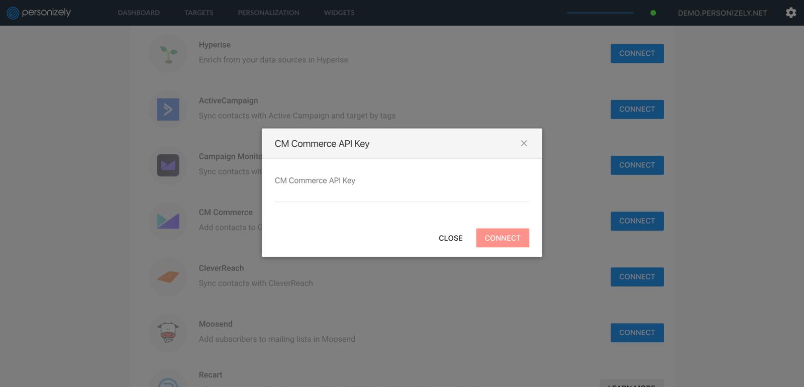 CM Commerce API