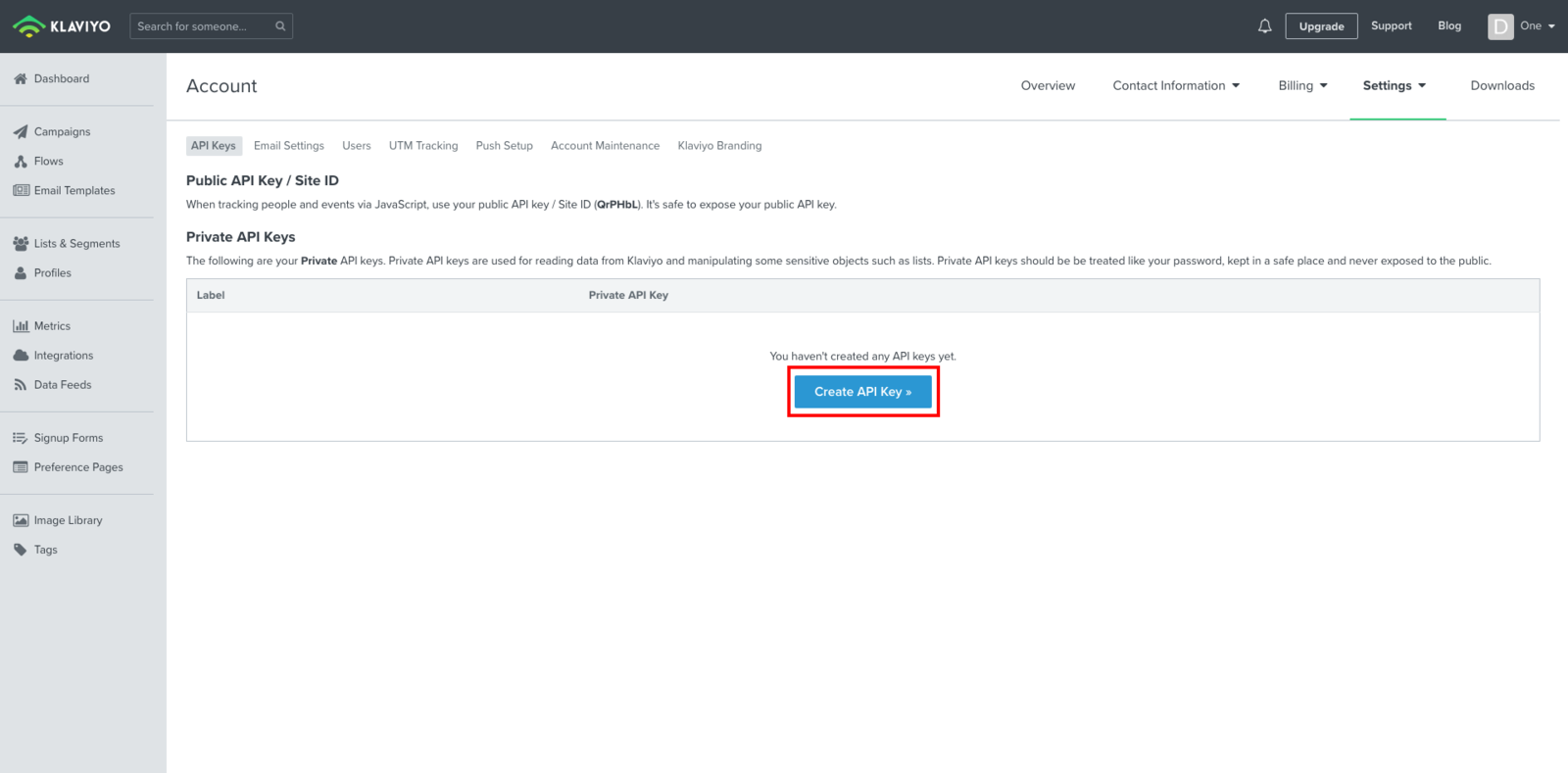 Create API Key
