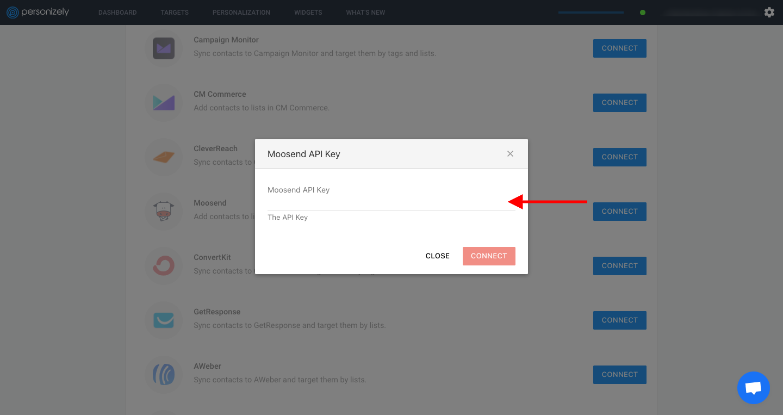Moosend API Key