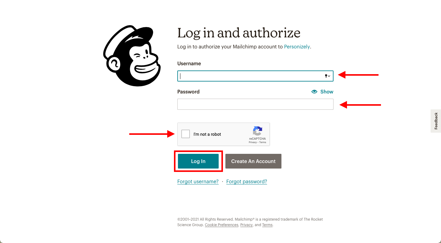 Connect Personizely to your MailChimp account