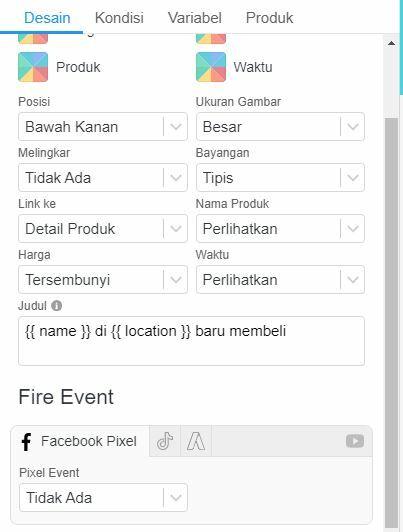 Facebook Pixel Event Ketika Notifikasi di klik