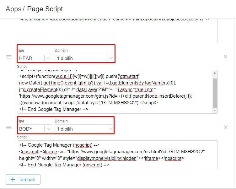 Page Script