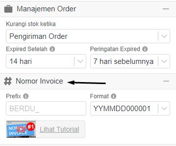 Nomor Invoice