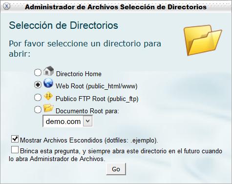 Seleccionar directorio