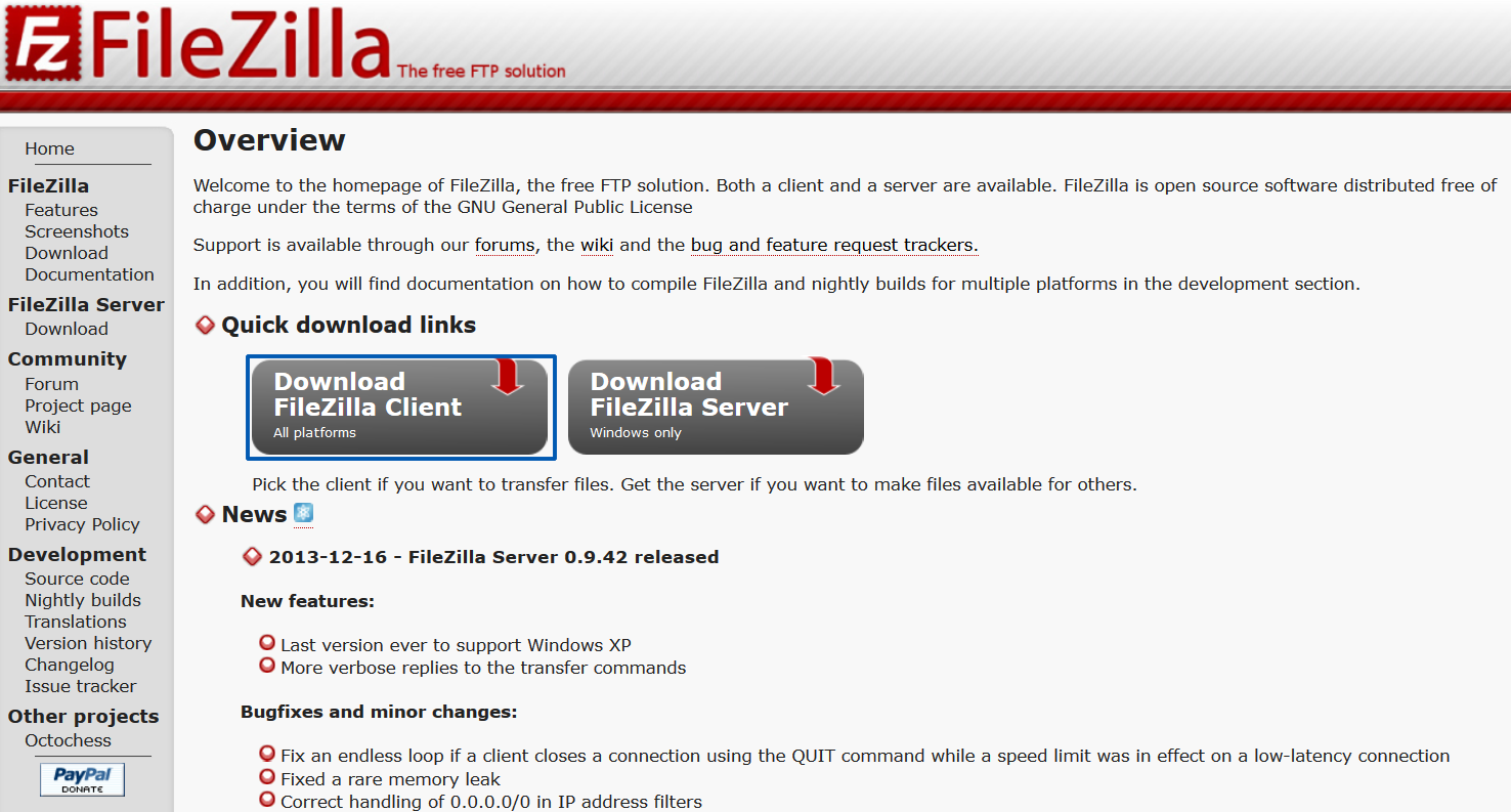 Descargar FileZilla