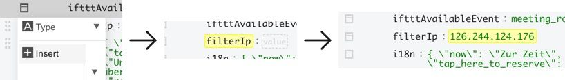 Advanced Configuration Example: Setting up a new key -> value pair