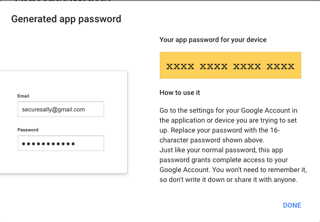 Generate app password 4