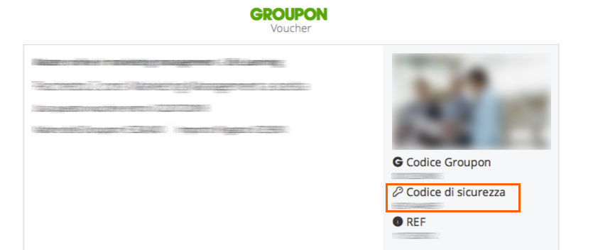 Esempio di un Coupon di Groupon