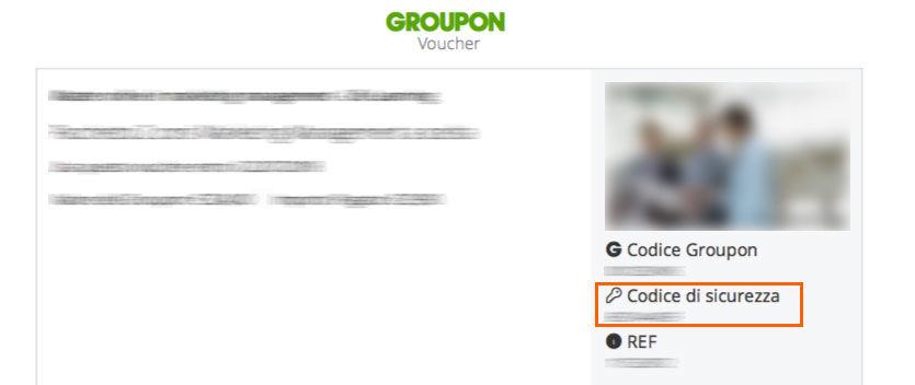 Esempio di un Coupon di Groupon