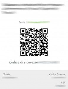 Esempio di Coupon QR-Code di Groupon