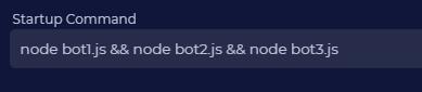 Run 3 NodeJS bots example