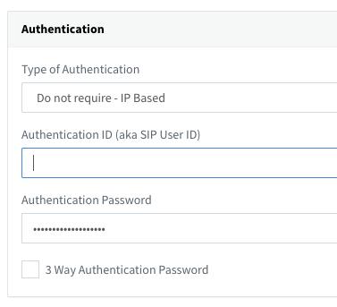 SIP Trunk Authentication