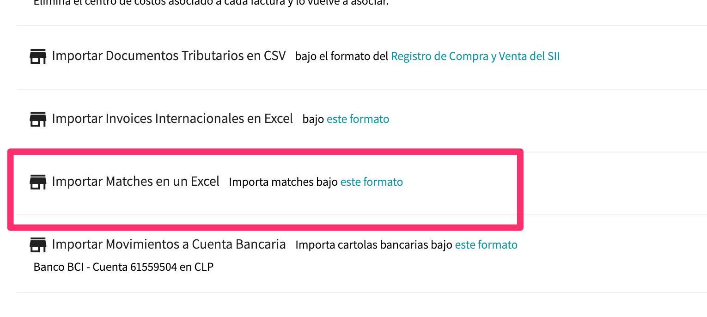 Ajustes Generales > Importar / Exportar
