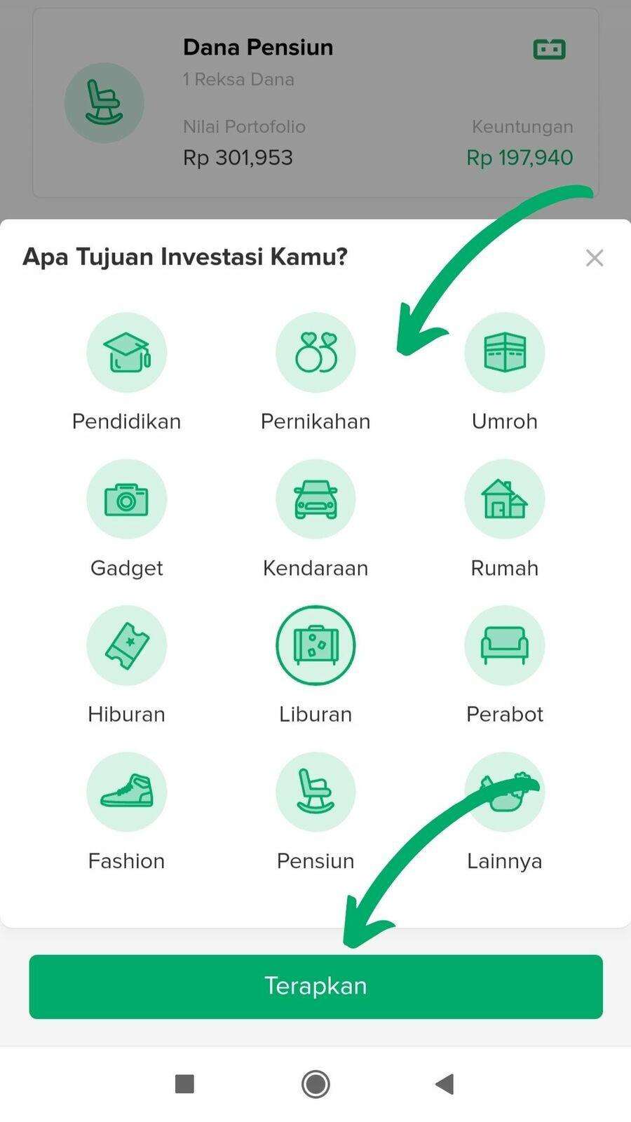 Cara investasi reksadana di Bibit - langkah 2