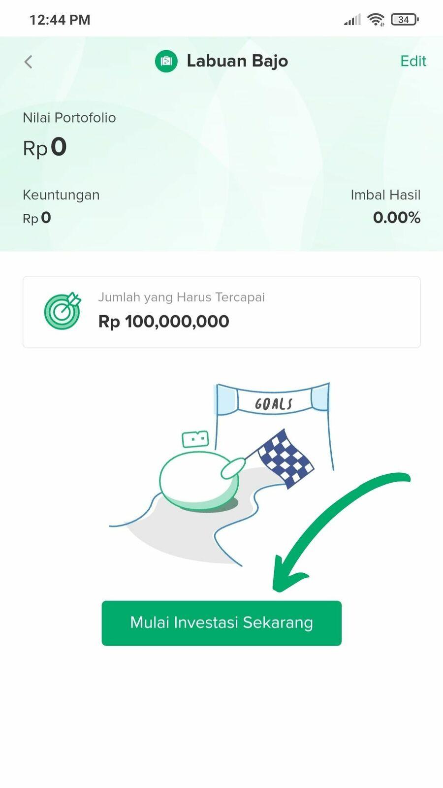 Cara investasi reksadana di Bibit - langkah 6