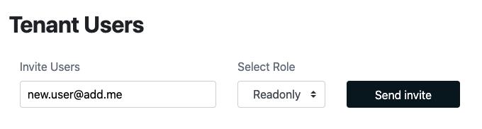 Adding A Tenant User