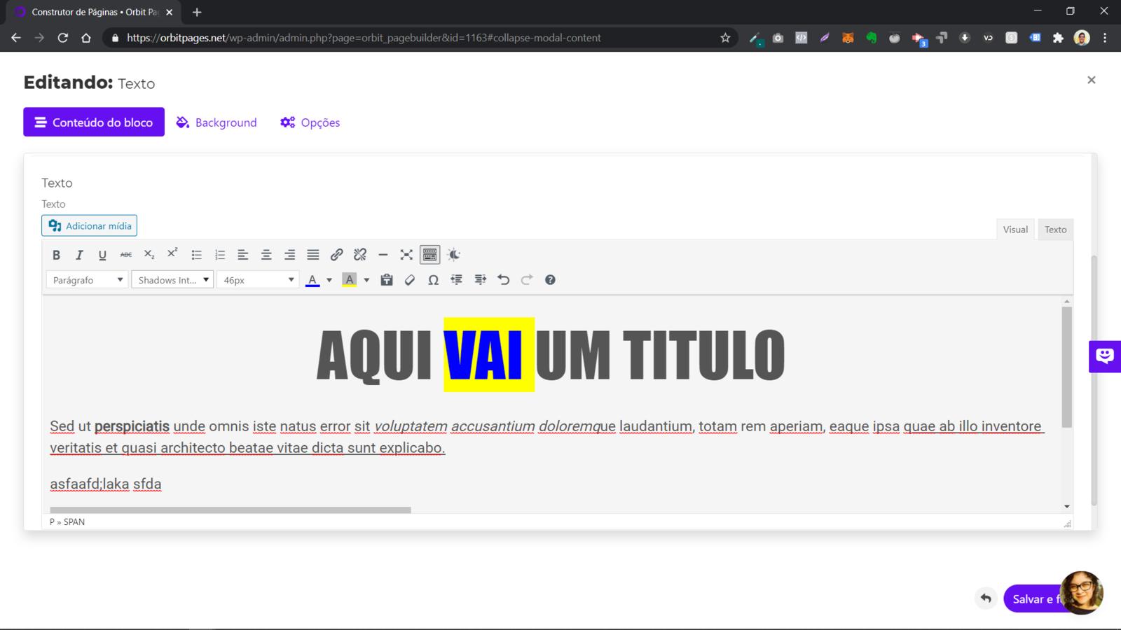 Um Editor de Textos como o Word ou Google Docs
