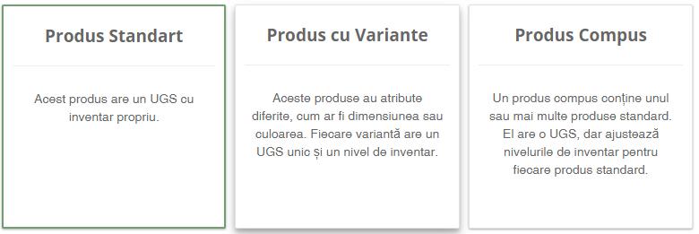Tipuri de produse