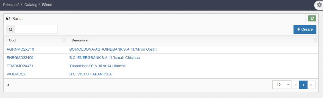 Catalogul băncilor