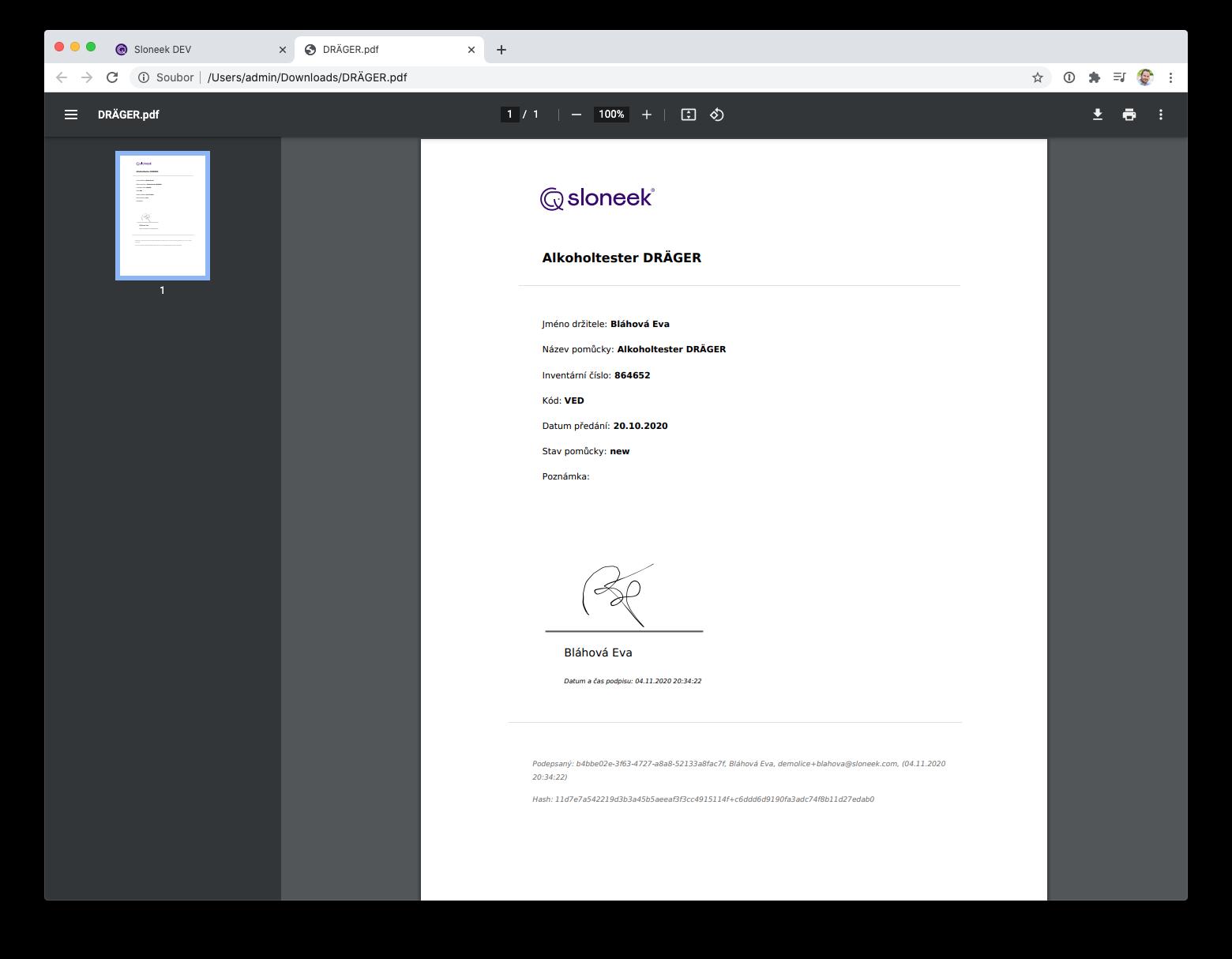 Podepsaný protokol