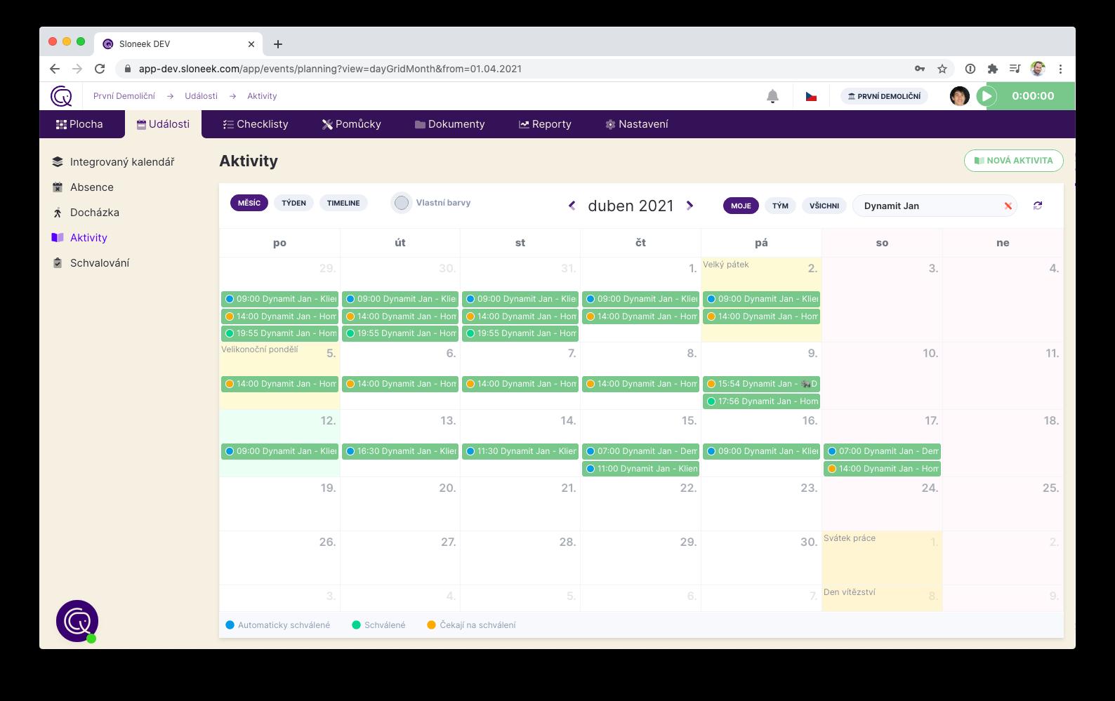Kalendáře pro plánování aktivit