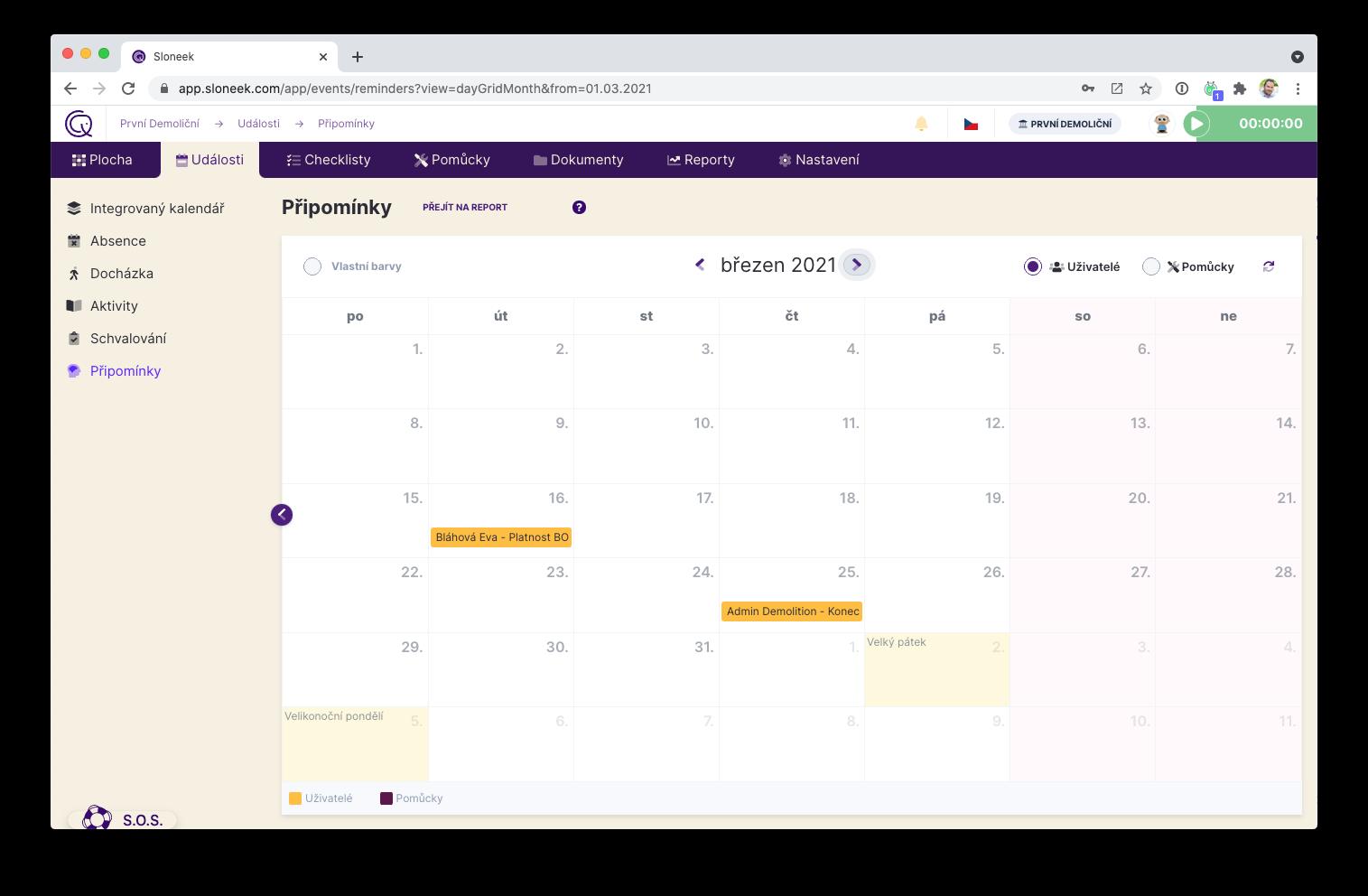 Kalendář připomínek