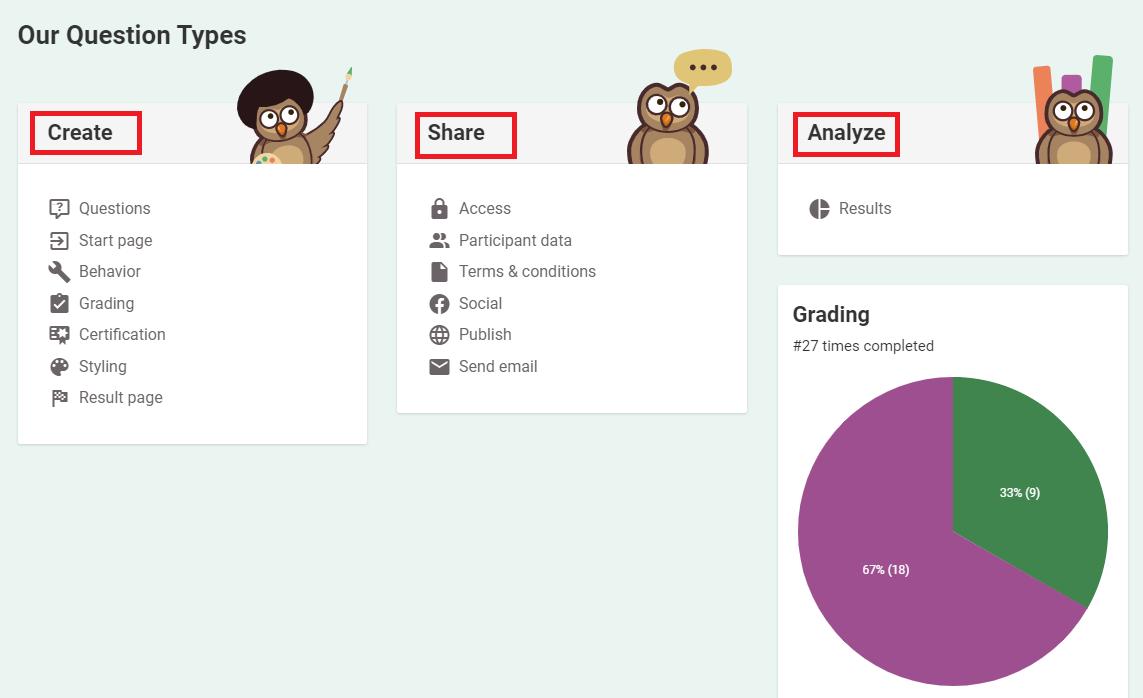 Online Exam Builder : interface de création des examens en ligne