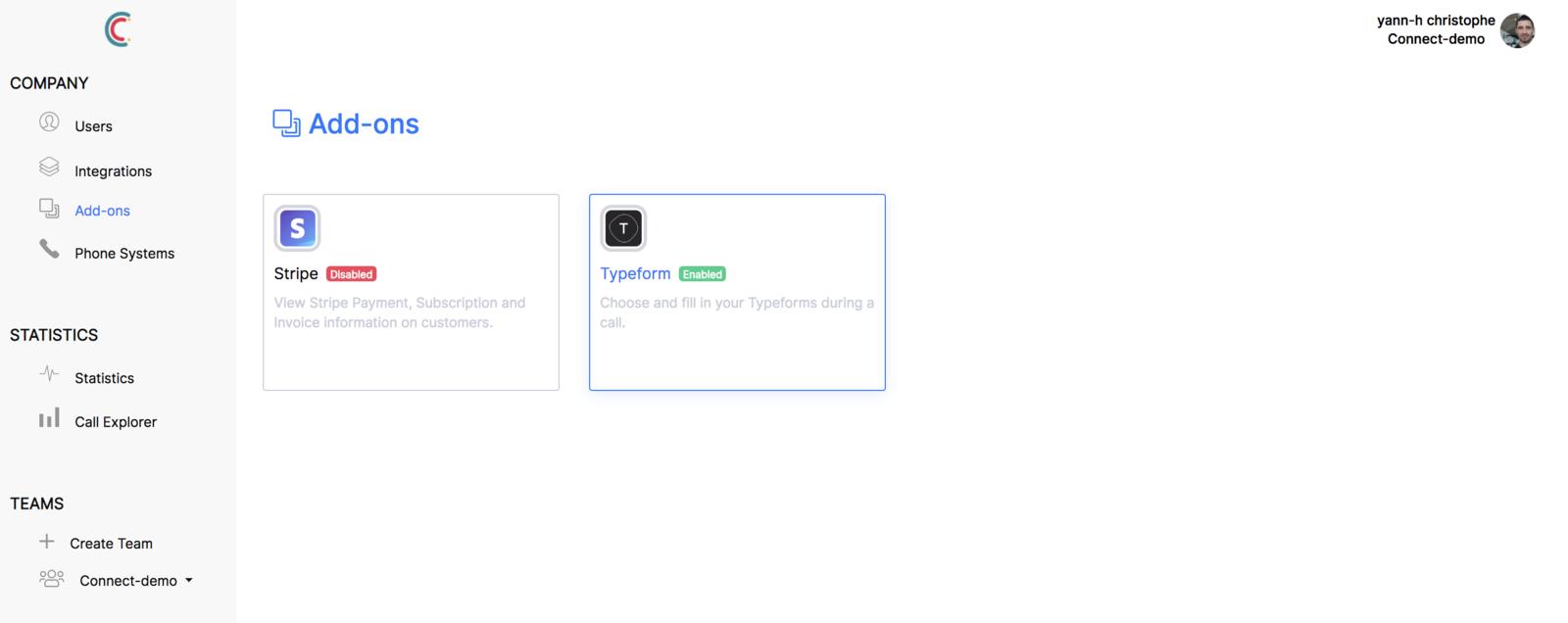 Intégration Typeform réussi